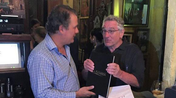 El célebre actor norteamericano, durante una visita a La Guarida. Foto: La guarida.