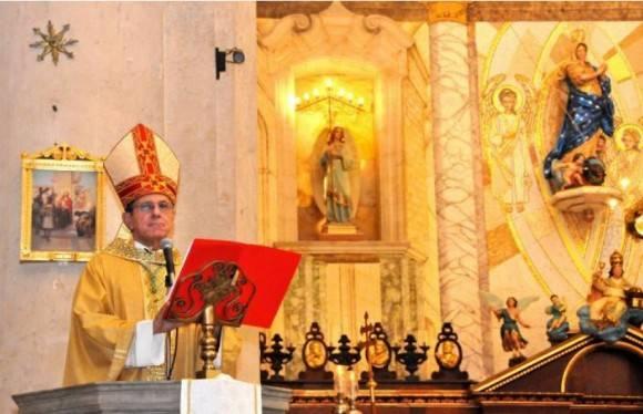 El nuevo Arzobispo de La Habana tomó posesión. Foto: Jorge Luis Álvarz / Granma