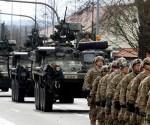 Más de 1.400 soldados y 400 vehículos militares estadounidenses participan en el desfile táctico Dragoon Ride II que cruza varios países de Europa central y oriental. Foto: Reuters.