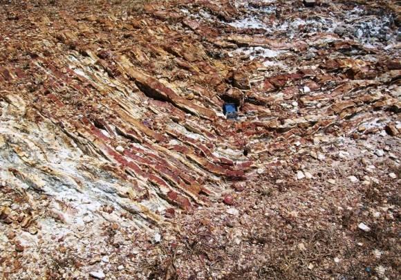 Santa Teresa Holoestratotipo Cretácico Inferior Aptiano - Cretácico Superior Cenomaniano  Villa Clara.  Foto: Lisette L. Arias Ceruelos Esp. Comunicación y Marketing IGP, Servicio Geológico de Cuba