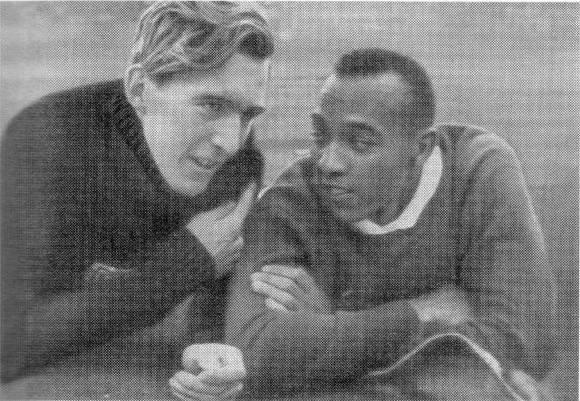 Owens y el alemán Luz Long.
