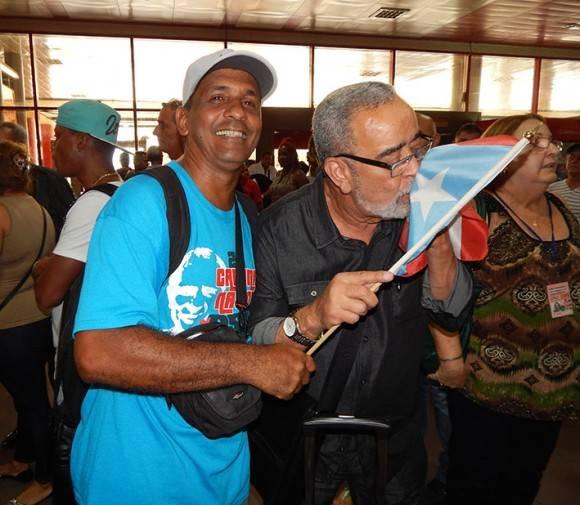 Andy Montañez llegando a Cuba el sábado 25 de junio de 2016. Foto: Adán Iglesias / Cubadebate