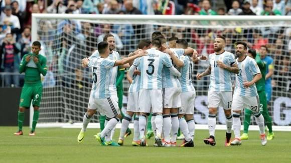 Argentina fue el único con nueve puntos en la fase de clasificación de la Copa América. Foto. AFP