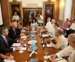 Los Cancilleres de Portugal y Cuba reunidos en La Habana. Foto: CubaMinrex
