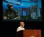 Intervención de José Ramón Machado Ventura, Vicepresidente del Consejo de Estado y Segundo Secretario del Comité Central del Partido, en el acto por el Aniversario 55 del Ministerio del Interior (MININT), en la Sala Universal de las FAR, en La Habana, el 6 de junio de 2016. ACN FOTO/Marcelino VAZQUEZ HERNANDEZ/sdl