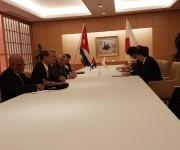 El Canciller japonés Kishida expresó que las relaciones con Cuba han entrado en una nueva dimensión. Foto: Cuenta en Twitter de Rogelio Sierra, Viceministro de Relaciones Exteriores.