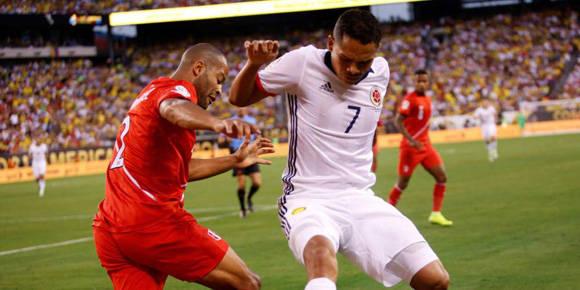 El tiempo reglamentario finalizó con el marcador intacto. Pero Colombia avanzó a semis al ganar en penales. Foto: Eduardo Muñoz/ AFP.