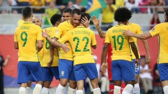 Copa América Centenario Brasil aplastó 7-1 a Haití. Foto: AFP