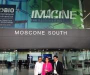 Integrantes de la delegación cubana a la Convención Internacional de Biotecnología en San Francisco. Foto: Cuenta en Twitter de José Ramón Cabañas, Embajador de Cuba en EEUU.