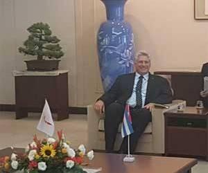 Primer vicepresidente cubano fue recibido por primer ministro de Japón y otras autoridades