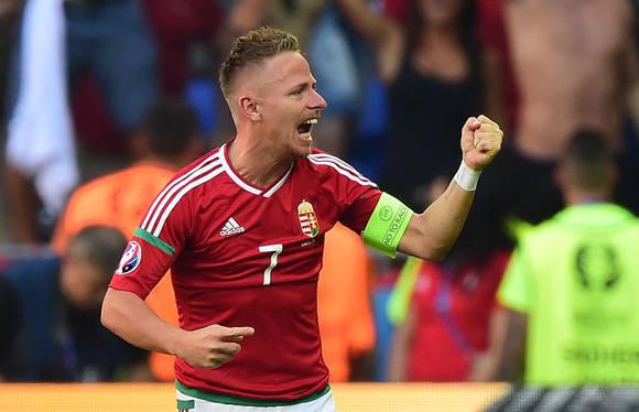 Dzsudzsák's  fue el líder de Hungria en el empate contra Portugal. Foto: UEFA.