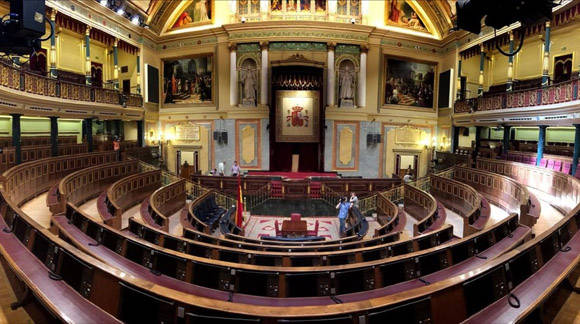 El Congreso Español. Una tercera ronda de elecciones tendría lugar en diciembre si fuera necesaria. Foto: José Luis Roca/ El Periódico.