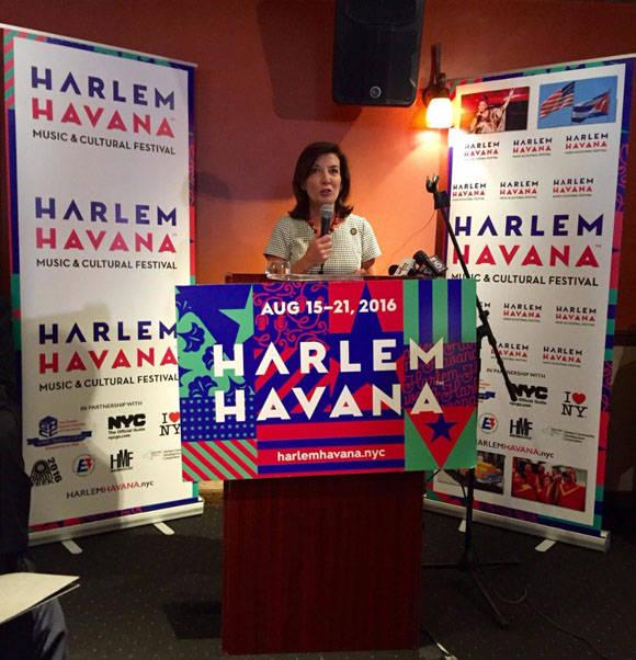 Este lunes se dio a conocer que el Festival Harlem/Havana Music & Cultural Festival tendrá su primera edición este año. Foto: @LtGovHochulNY.