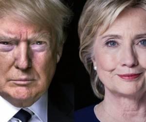 Los virtuales candidatos a la presidencia de Estados Unidos, el republicano Donald Trump, y la demócrata Hillary Clinton. Foto: Archivos.