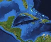 Las características del Mar Caribe hacen que sólo aquí se produzca ese zumbido. Foto: NASA.