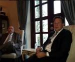 El Presidente panameño recibió al Ministro cubano de Comercio Exterior e Inversión Extranjera Rodrigo Malmierca. Foto; EMBACUBA Panamá