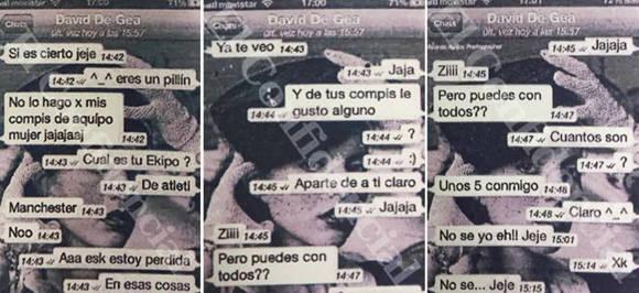 Mensajes entre De Gea y la muchacha2