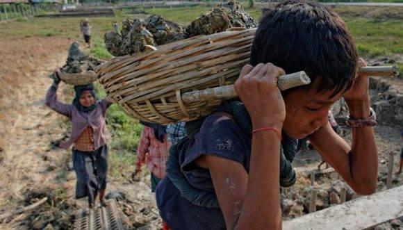 El trabajo forzado es otro de los males que repercute en millones de infantes alrededor del mundo.