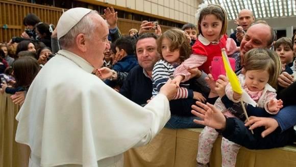 Papa contra exclavitud infantil