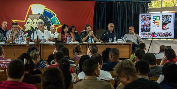 Tercer Pleno del Comité Nacional de la UJC, en el Centro de Convenciones de la CTC Lázaro Peña, en La Habana, el 10 de junio de 2016. Foto: ACN/ Marcelino Vázquez.
