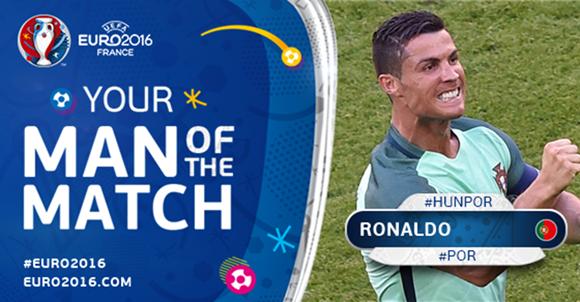 Ronaldo fue elegido el hombre del partido. Foto: UEFA.