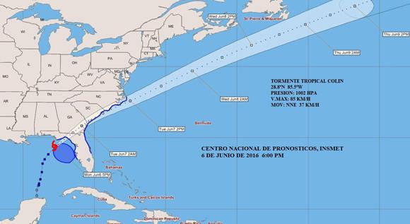 Tormenta tropical Colin busca el Atlántico