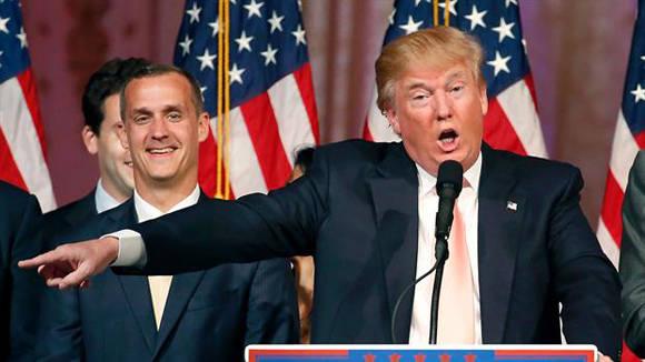 Trump, con Lewandoswski.
