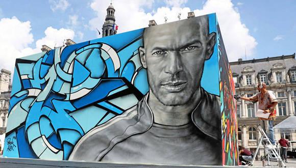 Zidane Mural Eurocopa