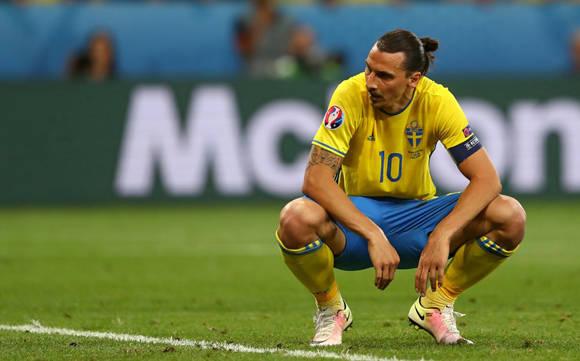 La estrella sueca, Zlatan Ibrahimovic, se queda fuera de la Euro. Foto: UEFA.