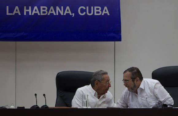 El Gobierno colombiano y la guerrilla de las Fuerzas Armadas Revolucionarias de Colombia-Ejército del Pueblo (FARC-EP) han llegado a un histórico acuerdo que firmarán este jueves en La Habana. Foto: Ladyrene Pérez/ Cubadebate