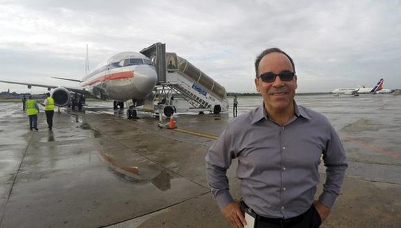 Director de American Airlines en Cuba, en el Aeropuerto Internacional José Martí, en La Habana.