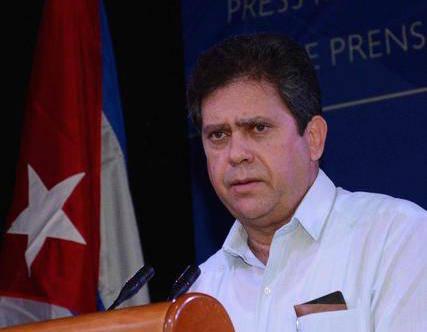 Alejandro González Galiano, Director General de Prensa, Comunicación e Imagen del Ministerio de Relaciones Exteriores, interviene durante la inauguración de la Sala de Prensa para dar cobertura a la VII Cumbre de la Asociación de Estados del Caribe (AEC), en el Salón de los Embajadores del Hotel Habana Libre Trip,  en La Habana, Cuba, el 1 de junio de 2016.    FOTO: Arelys María ECHEVARRÍA RODRÍGUEZ/ ACN