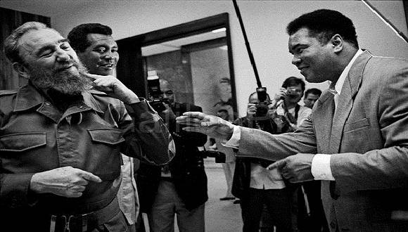 Muhammad Ali, junto a Fidel Castro y Teófilo Stevenson. Foto: Archivo.
