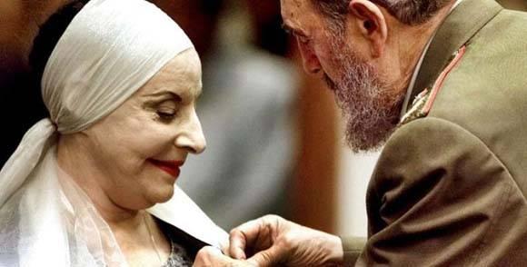 Alicia Alonso Recalls Fidel Castro Contibution to Cuban Ballet