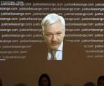 El fundador de Wikileaks, Julian Assange,  durante una videoconferencia. Foto: AP
