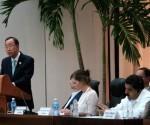 Ban Ki-moon interviene en el acto de este jueves en La Habana. Foto: Ladyrene Pérez/ Cubadebate