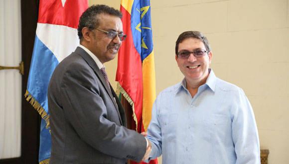 Los cancilleres de Cuba y Etiopía sostuvieron conversaciones oficiales este viernes. Foto: Twitter Cubaminrex.