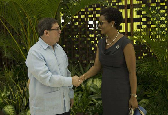El Ministro de Relaciones Exteriores de Cuba recibe a sus homólogos que participan en la Reunión de Cancilleres, en la VII Cumbre de la Asociación de Estados del Caribe. Foto: Ismael Francisco/ Cubadebate