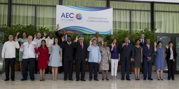 Recibimiento y oficial de la Reunión de Cancilleres, en la VII Cumbre de la Asociación de Estados del Caribe. Foto: Ismael Francisco/ Cubadebate
