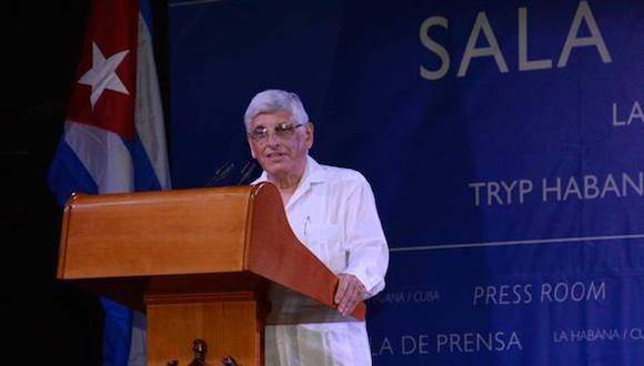 Carlos Zamora, subdirector general de América Latina y el Caribe del Ministerio de Relaciones Exteriores, en declaraciones a la prensa. Foto: Arelys María Echevarría/ ACN.