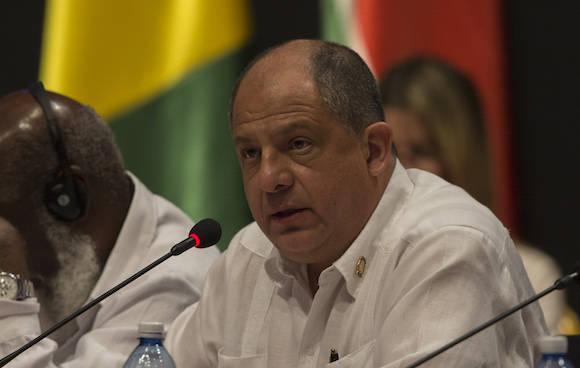 El presidente de Costa Rica Luis Guillermo Solís. Foto: Ismael Francisco/ Cubadebate