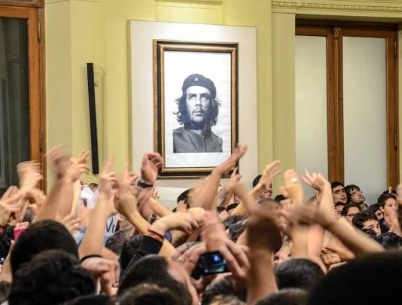 Imagen del Che en la Casa Rosada tomada en el 2015. Foto: Kaloian