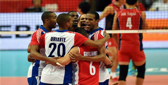 Cuba vence a Corea del Sur en Liga Mundial de Voleibol