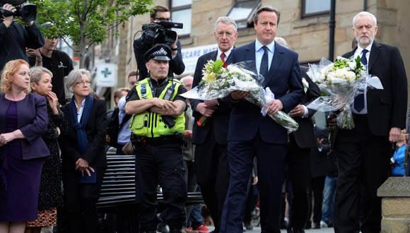Primer Misnitro británico David Cameron, conmocionado por el asesinato de la diputada Jo Cox.