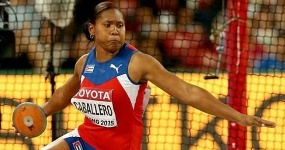 Caballero, monarca en los Juegos Panamericanos de Toronto 2015, se ubicó tercera en el podio con envío de 63.85 metros.