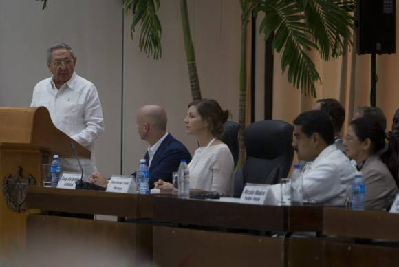 Raúl Castro Ruz, presidente cubano, durante su intervensión. Foto: Ladyrene Pérez/ Cubadebate