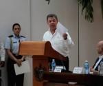 Intervención de Juan Manuel Santos Calderón, presidente de la República de Colombia, en la Ceremonia de Firma de Acuerdos sobre Cese al Fuego y de Hostilidades Bilateral y Definitivo, Dejación de las Armas y Garantías de Seguridad entre el Gobierno de Colombia y las FARC-EP. Foto: Ladyrene Pérez/ Cubadebate
