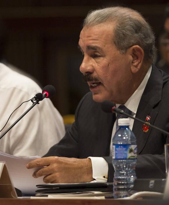 El Presidente de la República Dominicana, Danilo Medina Sánchez en la Cumbre de la AEC. Foto: Ismael Francisco/ Cubadebate