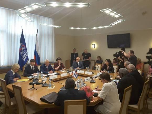 Inició presidente del Parlamento cubano visita oficial a Rusia