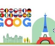 Doodle interactivo sobre la Eurocopa.
